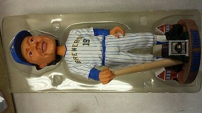 Milwaukee Brewers 2004 Robin Yount Cooperstown Collection Autographed Bobblehead