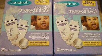 Lansinoh Breastmilk Storage Bags (Qty. 50 Bags) **New**Free Shipping