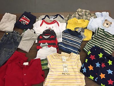 Nearly New • 17pc Baby Boys Size 0/3 3 Months Gymboree Carters First Moments