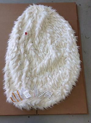 Pottery Barn PBTeen LARGE Beanbag Chair Replace Slipcover FAUX FUR LLAMA IVORY