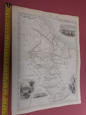 100% Original British Guayana  Map By Montgomery/tallis C1865 Vgc