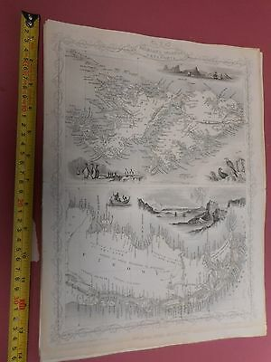 100% Original Falkland Islands Patagonia Map By Montgomery/tallis C1865 Vgc