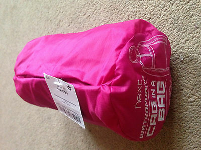 BNWT NEXT Pink Raincoat Waterproof Coat Jacket Cagoule Pac-a-Mac 3 Years
