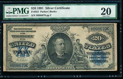 AC Fr 321 1891 $20 Silver Certificate PMG 20 MANNING !!