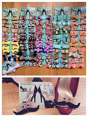 NEW Wholesale Lot 54 Pairs Shoe Clips Bows Accessories Cute Boutique Children's