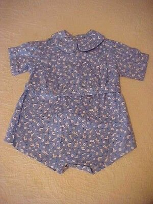 Vintage Child's Romper w/ Juvenile Print Fabric
