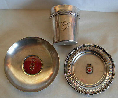 3 Items, Leysen Freres Belgium 800 Silver Dish, Wiskemann Plated Cup, & One More
