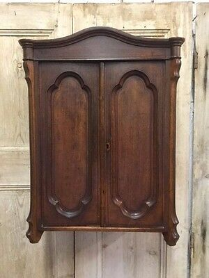 Unusual Decorative Antique Ecclesiastical Gothic Style Small Wall Cabinet