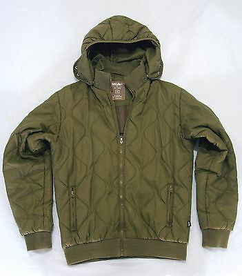 Mossimo c.2008 green hooded quilted jacket men's size small