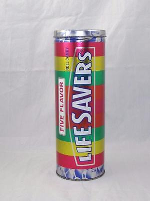 1995 Nabisco Life Savors 5 Flavor Candy Collectible Metal Tin Canister