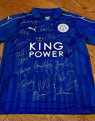 Leicester City Champions Signed New 2016/17 Shirt Original Team Autographs + Coa