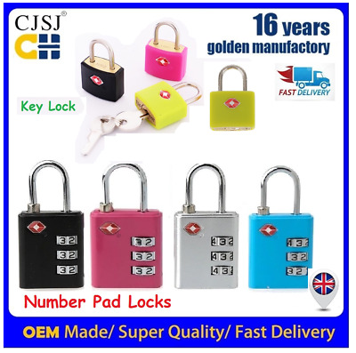 Solid TSA Approved Brass Padlock Travel Luggage Suitcase Keys Lock