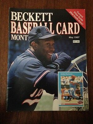 Kirby Puckett Cover Beckett Baseball Card Price Guide May 1987 Issue #27