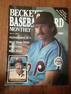 Mike Schmidt Cover Beckett Baseball Card Price Guide April 1987 Issue #26