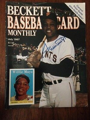 Willie Mays Cover Beckett Baseball Card Price Guide July 1987 Issue #29
