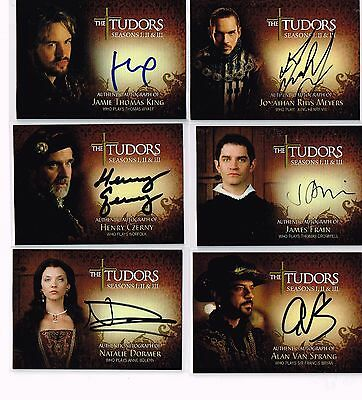 Tudors Season 1-2-3 Autograph Set (11)