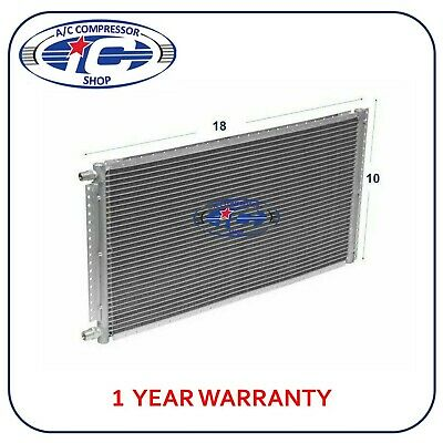 """A/C AC Universal Condenser 10"""" X 18"""" Parallel High Flow O-ring #6 & #8"""