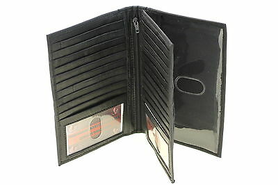 Men Women Checkbook Wallet Large Credit Card Holder Center Flap Genuine Leather