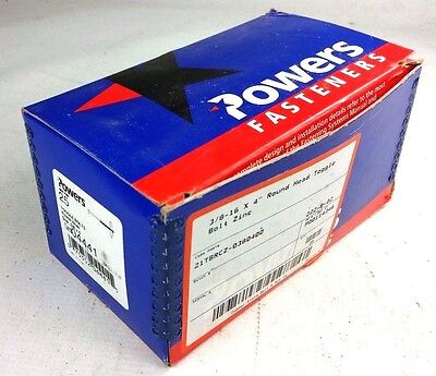 Powers Fasteners 04441 Toggle Bolts Round Head, Size 3/8 x 4 (Qty 25) NEW IN BOX
