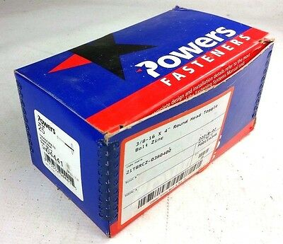 Powers Fasteners 04441 Toggle Bolts Round Head, Size 3/8 x 4 (Qty 25) NEW