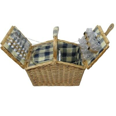 ZQ1-3746 Traditional Wicker Picnic Basket for 4 People with Cooler