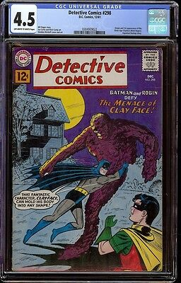 Detective Comics # 298 CGC 4.5 OW/W (DC, 1961) 1st appearance of SA Clayface
