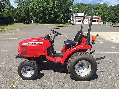 Mahindra 4 Wheel Drive 20 HP Diesel Tractor And Bush Hog Finish Mower 180hrs.