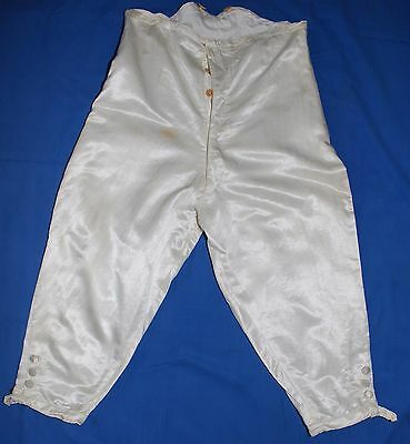 Rare Antique Cream Silk Officer's Dress Breeches Army & Navy C. S. Ltd Label