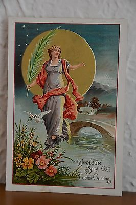 1800's Historic Woolson Spice Co. Lion Coffee Picture Card Advertisement!!