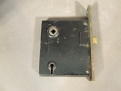 Antique Vintage Mortise Lock Latch Wiht Skeleton Key Hole For Parts/repair (61)
