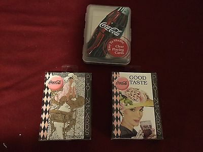 Lot of 3 Decks of Coca Cola Playing Cards