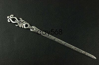 China new noble fashion Tibet silver carving Fancy Hairpin LJQQ122