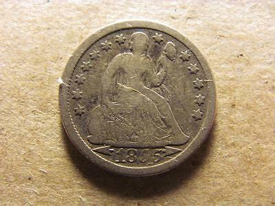 1855 w/ Arrows Seated Liberty Dime Good/VG Very Good (25A)