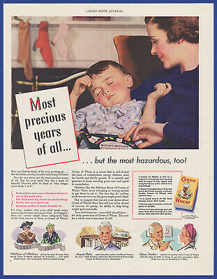 Original Vintage 1936 CREAM OF WHEAT Cereal Print Ad 1930's