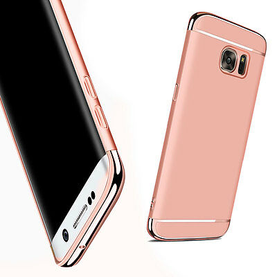 Rose Gold Slim Electroplate Hard Protector Case Cover For Samsung Galaxy S7 Edge