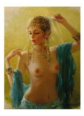"""High Quality Portrait Oil Painting On Canvas : """"Nude Girl"""" 24""""x36"""" 7382"""