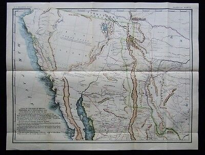 Part Of The Map Of Mexico Prepared by J. Disturnell USGS 1923 Original 1847