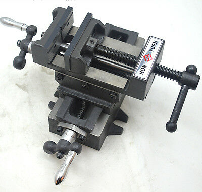 "Cross Slide Vise 3"" Drill Press X-Y 2 Way Clamp Metal Milling Machine Heavy Duty"