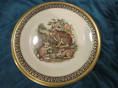 Lenox Cottontail Rabbits Plate Limited w/ Box 1975 Made in USA