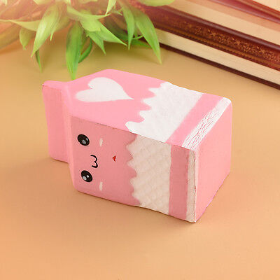 Squishy Milk Carton Phone Straps Slow Rising Soft Stress Reliever Bread Kids Toy