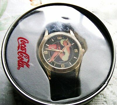 Vintage Traditional Woman Drinking COCA COLA Wrist Watch - NIB
