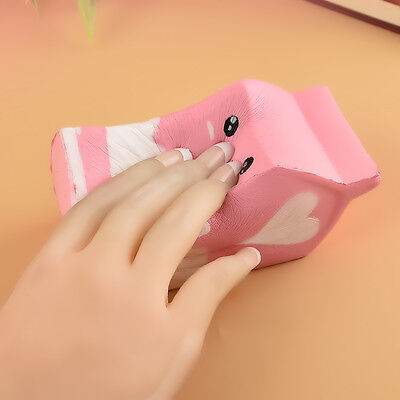 Squishy Milk Carton Phone Straps Soft Slow Rising Stress Reliever Bread Kids Toy