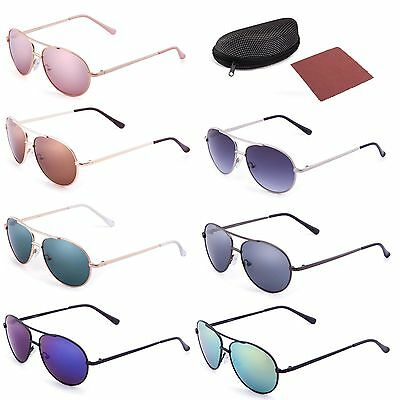 Aviator Sunglasses For Kids Boys Girls Baby Children Toddler Eye Glasses Case