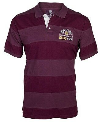 Queensland Maroons State Of Origin Classic Heritage Cut & Sew Polo Sizes S-5XL!