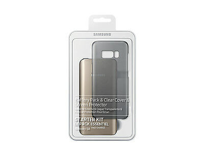Genuine Samsung S8 Starter Pack Screen Protect, Fast Charge Battery Pack & Case