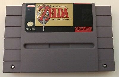 Super Nintendo SNES the Legend of ZELDA a Link to the Past tested authentic