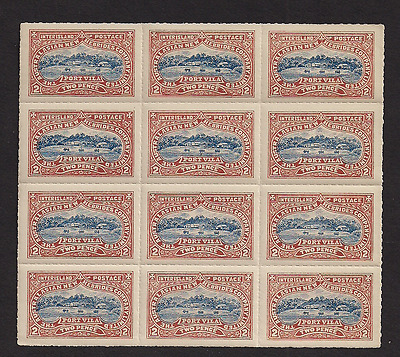 New Hebrides Australia inter island MNH mint  block of 12 rare