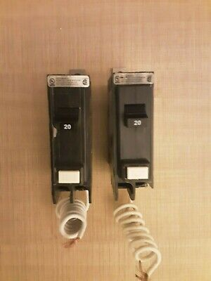 New Eaton Qbgf1020 20 Amp 1 Pole  Bolt On Gfi Ground Fault Circuit Breaker