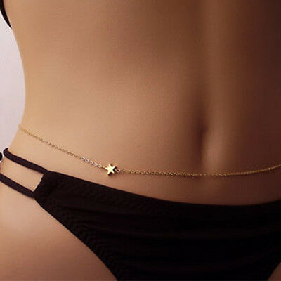 Gold Hot Waist Body Belly Bikini Necklace Womens Jewelry Belt