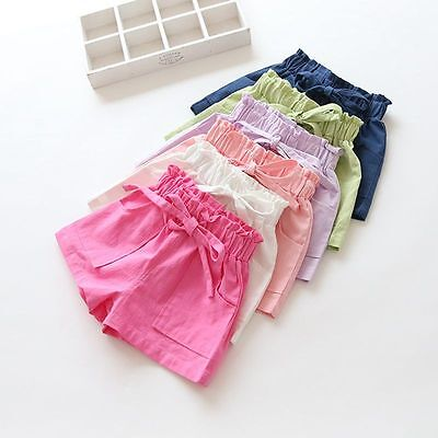 Baby Toddler Lovely Girl Summer Beach Shorts Kids Bowknot Shorts Pants Trousers